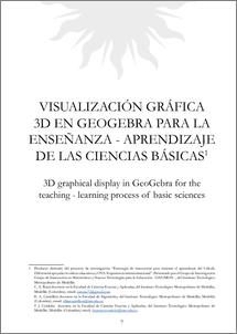 Visualización gráfica 3d en GeoGebra para la enseñanza- aprendizaje